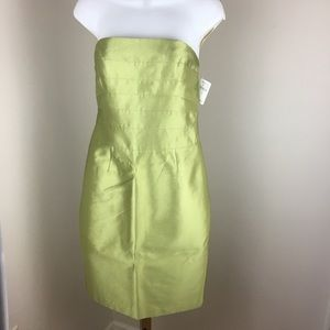 Kay Unger Sleeveless Silk Blend Green Dress Size 2
